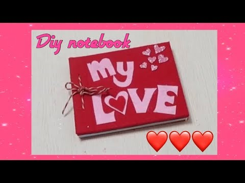 DIY VALENTINES THEMED NOTEBOOK FROM SCRATCH ❤️❤️❤️