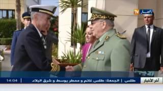 دفاع: الفريق أحمد قايد صالح يستقبل رئيس الاركان العامة للجيش الليبي
