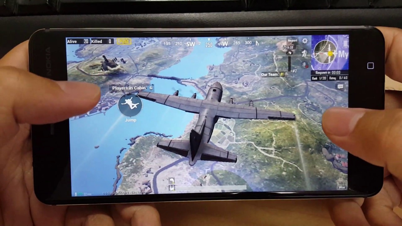 Test Game PUBG Mobile on Nokia 6