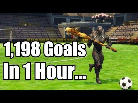 1,198 Goals Scored In 1 Hour! Most Goals In Fortnite! Fortnite Battle Royale