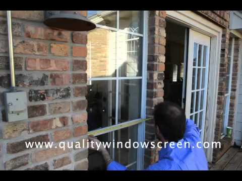 How To Measure And Install Window Screens And Solar Screens For Windows With Tracks