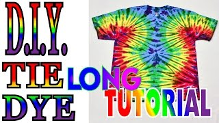 Tie Dye Wavy Fan Fold Shirt [Long Tutorial] #47
