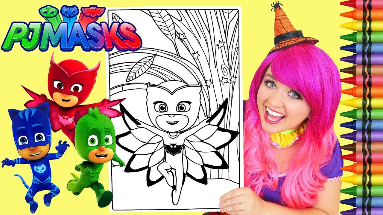 coloring owlette pj masks giant coloring book page crayola