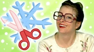 How to make a Paper Snowflake - Arts and Crafts (Cool School)