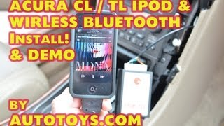 Acura TL CL IPOD, BLUETOOTH  & AUX MP3 Installation, GROM AUDIO by AutoToys.com