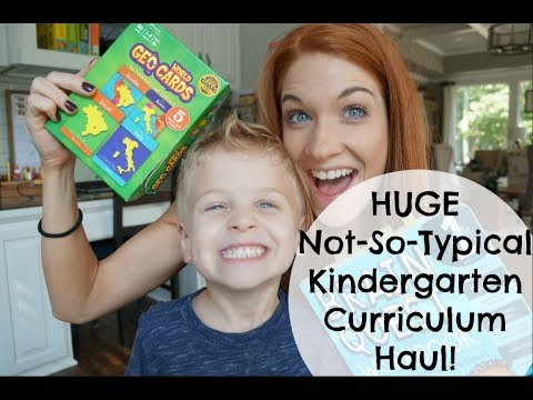 HUGE Not-So-Typical Kindergarten Homeschool Haul! All From Amazon!