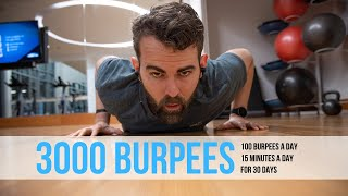 I did 100 BURPEES for 30 DAYS - Simple 30 Day Workout - After 3000 burpees I lost nearly 14 pounds