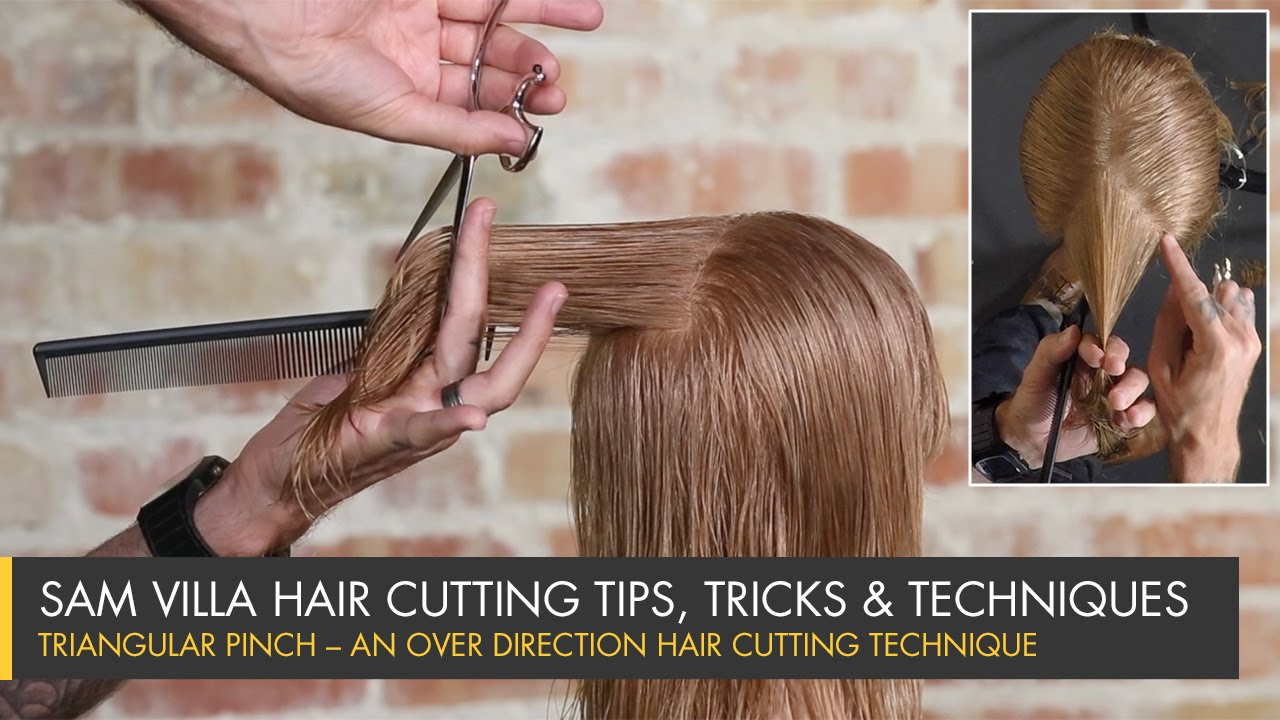 hair styling tips for with hair triangular pinch an direction hair cutting 6819
