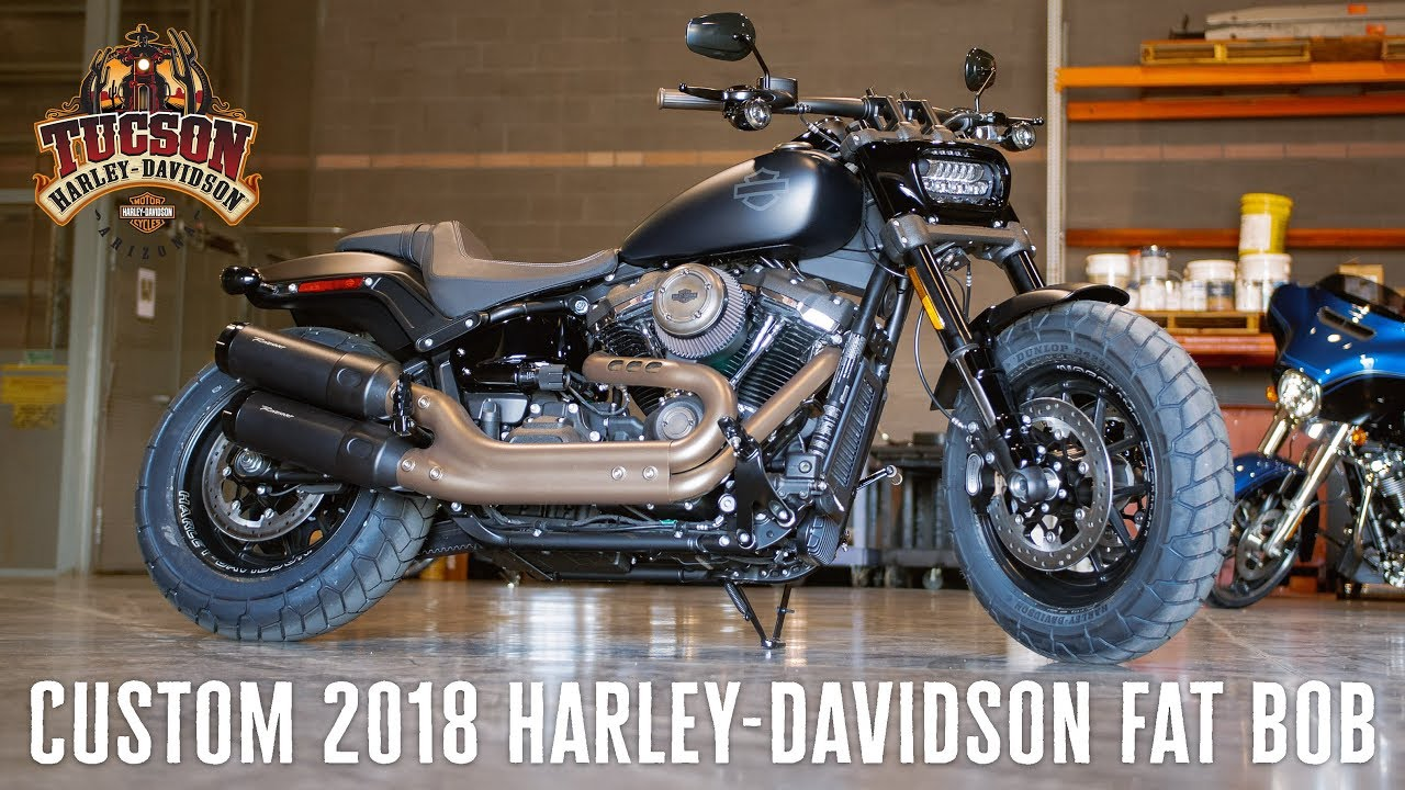 custom 2018 harley davidson fat bob youtube. Black Bedroom Furniture Sets. Home Design Ideas