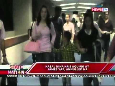 SONA: Kasal nina Kris Aquino at   James Yap, annulled na
