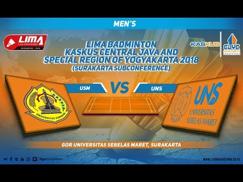 USM VS UNS LIMA Badminton: Kaskus Central Java and Yogyakart