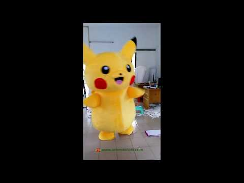Pikachu suit Pokeman Go mascot costume for sale