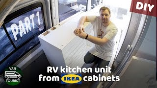 Rv Kitchen Build From Ikea Cabinets. Diy Campervan Kitchen Unit For Simple Van Conversion   Part 1
