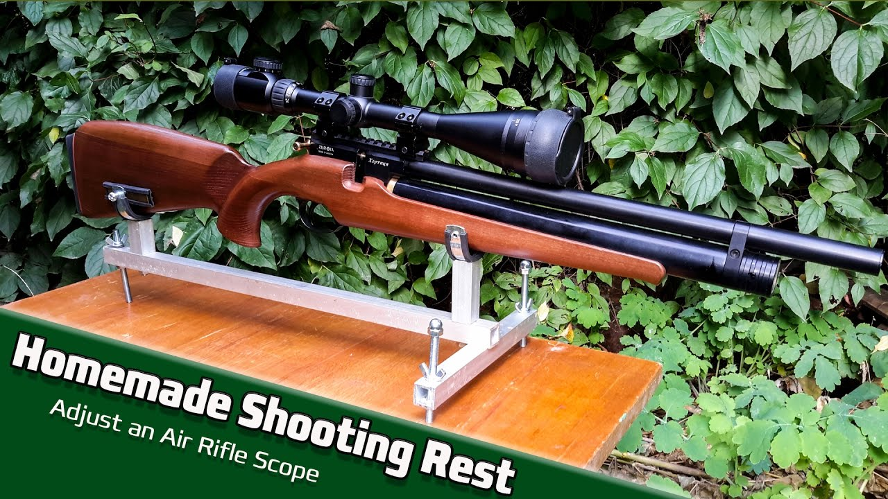 Homemade Shooting Rest And Adjust An Air Rifle Scope Youtube
