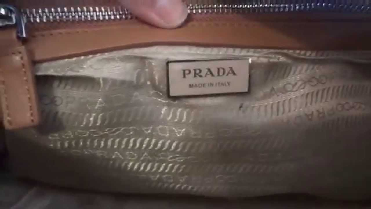 5fa5e0ec3bc1 How to Identify an Authentic Prada Handbag by Dakini s Choice - YouTube