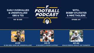Early Overvalued & Undervalued QBs & TEs (Ep. 347)
