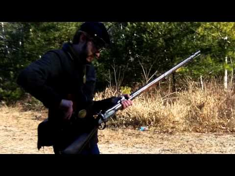 Firing Original Springfield 1842 Musket, Rifled and Sighted