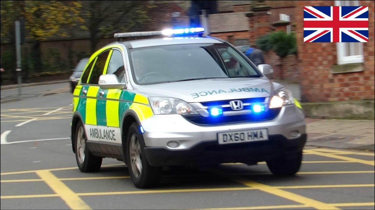 Ambulances responding rapid responder dca using siren and lights