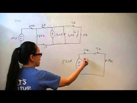 Source Transformations P4.61 Nilsson Riedel Electric Circuits 9E Solution