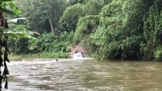 dmax vs hilux at the river of sg koyan pahang malaysia