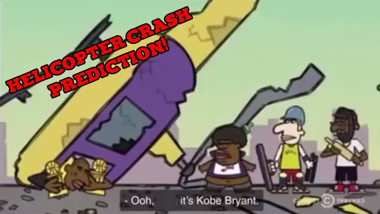 Kobe Bryant's Helicopter Crash Predicted in Cartoon and Twitter.!