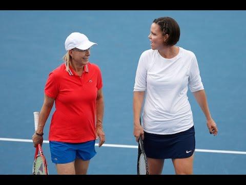NavratilovaDavenport v ClijstersMajoli highlights  Australian Open 2016