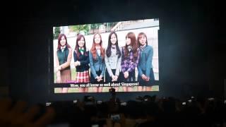 131025 Apink at Singapore Expo Vizit Korea: Intro Video Message 1 (perf part 1) [fancam]