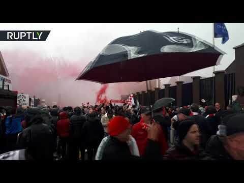 Liverpool v Roma: Tensions high as fans clash before game