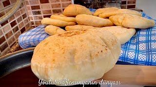 #Evdekal günlerinde Evde Yapılabilecek En Kolay Ekmek BAZLAMA (BALON EKMEK) tarifi 💯 Püf Noktaları