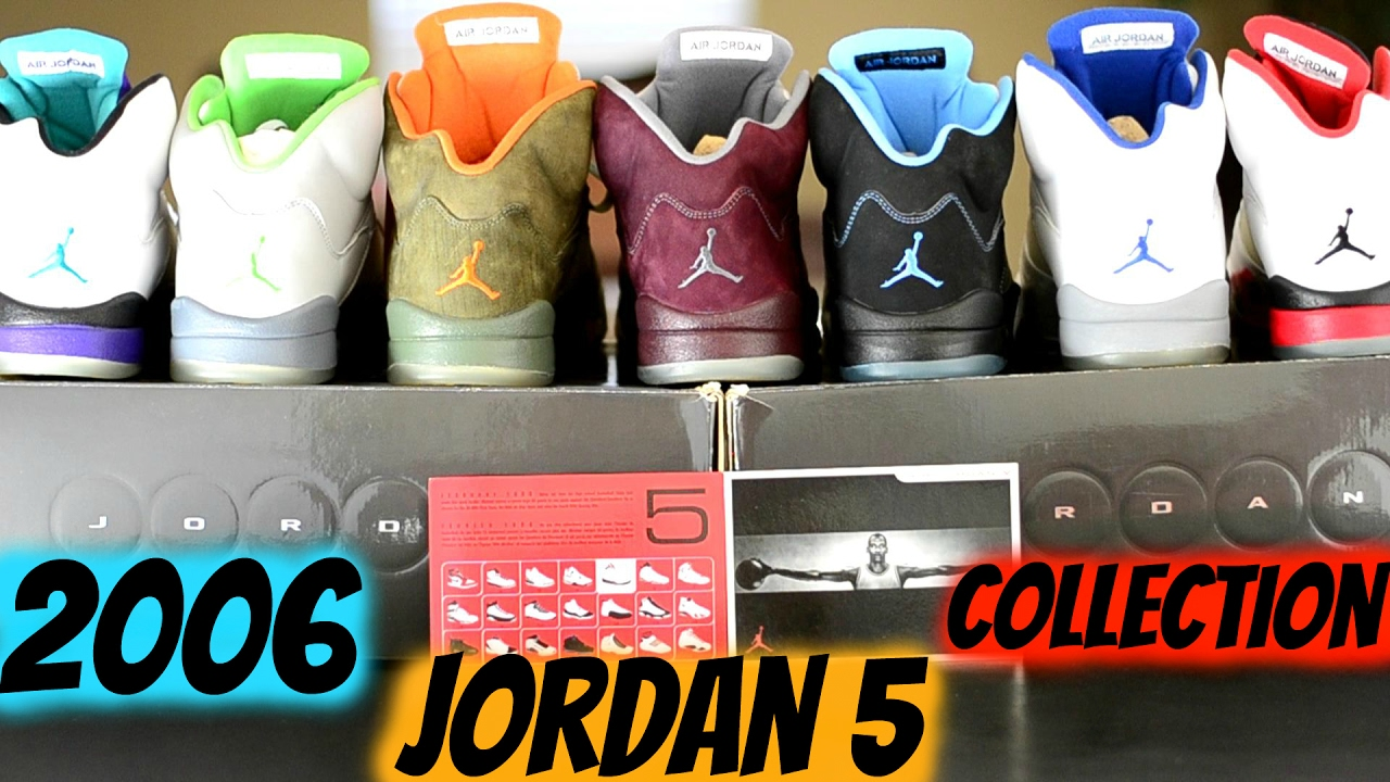 sports shoes 1bc9b 0e586 ALL AIR JORDAN 5 2006 COLORS SNEAKER COLLECTION. 7 PAIRS TOTAL. WHICH 1's  DO YOU HAVE?