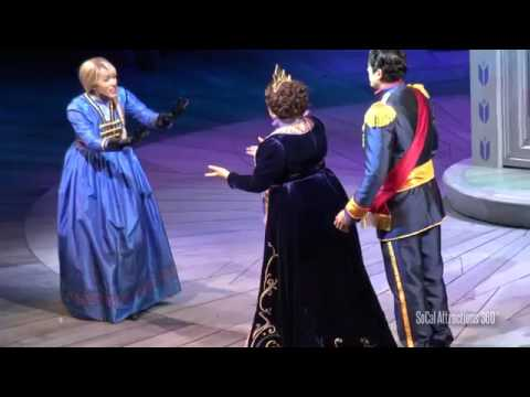UPCLOSE HD FULL Frozen Musical Live Show   Disney California Adventure   Opening Day