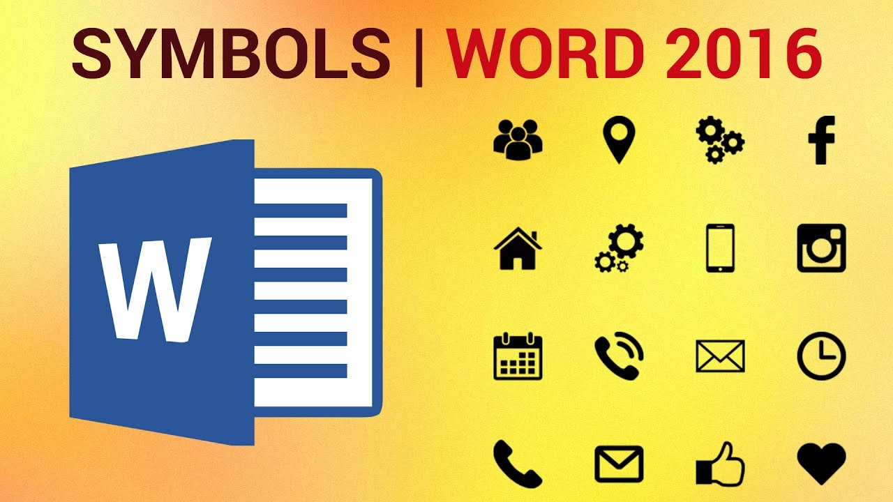 How To Type And Insert Symbols And Special Characters In Word 2016