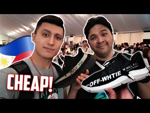 OFF WHITE ADIDAS? CHEAP YEEZYS! Ukay Ukay Sneaker Shopping with Carlo Ople! (Philippines Vlog)