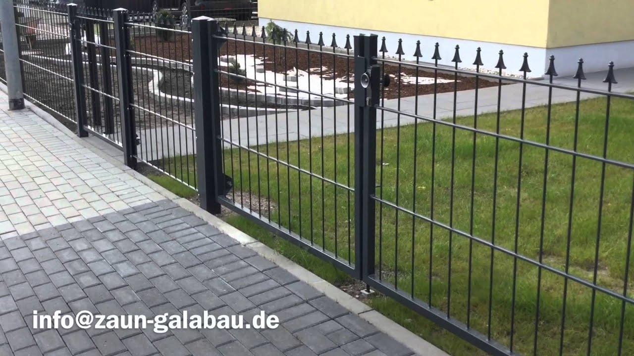 Zaunbau Galabau Adronit Schmuckzaun anthrazit
