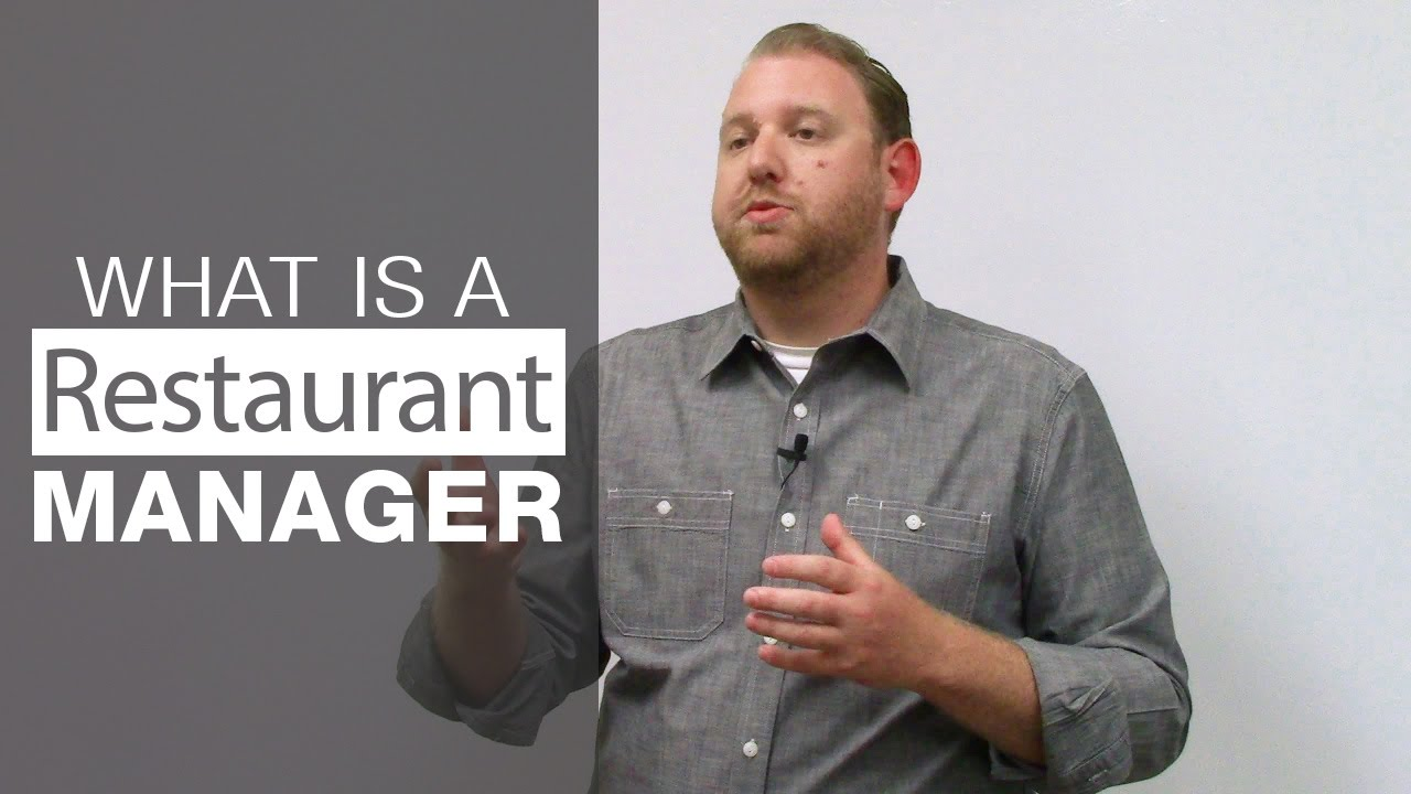 What is the Role of a Restaurant Manager - YouTube