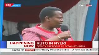 DP William Ruto in Nyeri County to fellowship with Christians