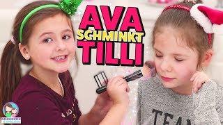 Ava schminkt Tilli von Oh Gott diese Familie 😍 💄 Prinzessinnen unter sich 😂