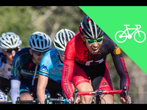 Vegan Cyclist Races Criterium