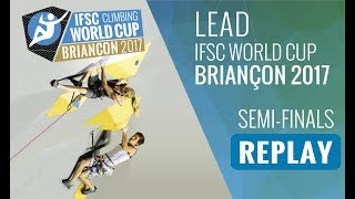 Watch the full replay of the Lead semi-finals at #IFSCwc Briancon, ...