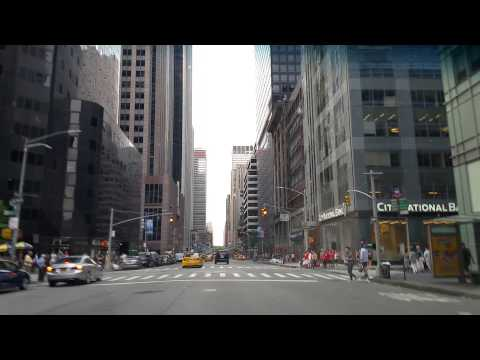 Driving on 6th ave in Manhattan,New York City