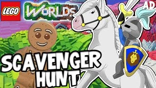 ​ EPIC SCAVENGER HUNT!! - LEGO WORLDS! W/CaptainSparklez