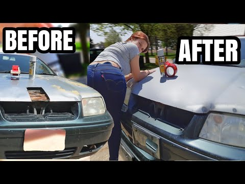 5$ DIY Quick Fix For Large Holes In your Car