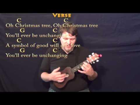 O Christmas Tree - Ukulele Cover Lesson in C with Lyrics/Chords