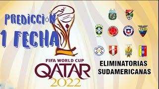 Prediccion De las Eliminatorias Rumbo a Qatar 2022 ! FECHA 1
