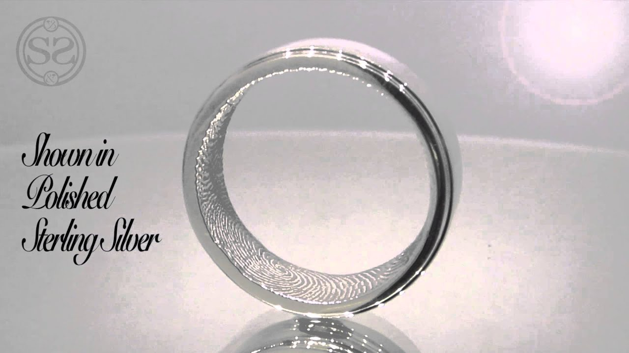 fingerprint french the morgan personalised rings wedding jewellery ring handmade slender