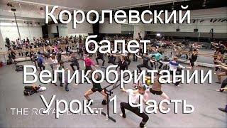 Королевский балет Великобритании. Классический урок. часть 1. 2017 год.