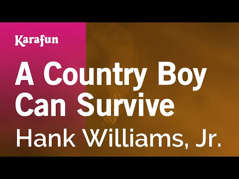 Karaoke A Country Boy Can Survive - Hank Williams, Jr. *