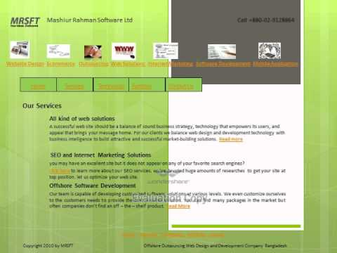 Offshore website design and development Company for Outsourcing.wmv