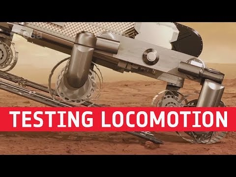 ExoMars  Testing locomotion