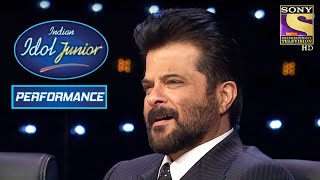 Anil Kapoor Enjoys Vaishnav's Calming Performance On 'Kuchh Na Kaho' | Indian Idol Junior 2